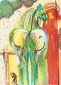 Salvador Dali - Centurion (signed lithograph, 1983)