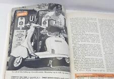 1957 Popular Science Lambretta Vespa scooter article Studebaker Economy car vtg