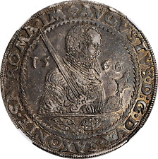 1566-HB SAXONY AUGUST I SILVER TALER NGC AU-55 Dav-9795