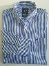 Claudio Campione Herren Hemd Modern Fit Blau Weiß Gr. 3XL