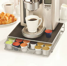 Coffee Machine Stand & Capsule Pod Holder Storage Drawer Nespresso, Dolce Gusto