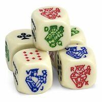 Poker Dice, Set of 5, Great for Travel