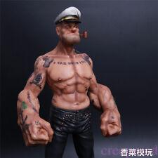 "12"" Headplay Popeye FIGURE Sailor GK Resin Statue Realistic TATTOO BODY Model"