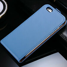 Genuine Leather Flip Case Cover Wallet For Apple iPhone 4 5 5S+Screen Protector