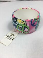 Printed Bangle, Peace - Hippy  Fashion Bracelet, Quirky Pattern Jewellery