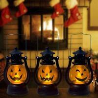 Halloween Vintage Pumpkin Light Lamp Hanging Home Party Lantern LED C3D9