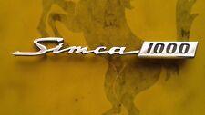 SIMCA 1000 EMBLEMA BADGE SCRITTA