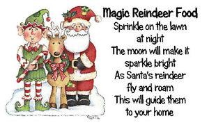 Magic Reindeer Food Stickers x 42 - #8 🎅Christmas Gifts Craft & School fairs