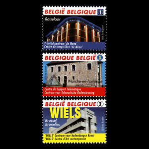 Belgium 2010 - A New Life for Old Brewery Architecture - Sc 2458/60 MNH