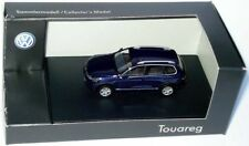 Original VW Touareg Blue Metallic 1 87 Model Car & Track H0