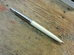 Vintage Ivory White Brass Threads Dome Top PARKER JOTTER Mechanical Pencil Pen