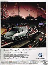Publicité advertising 2007 VW Volkswagen Touran