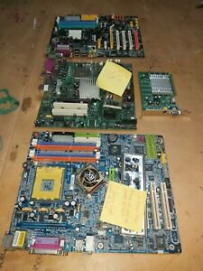 Bulk lot Vintage Motherboards Sockets 462 939 775 & FX5200 AGP