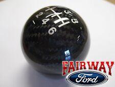 15 thru 17 Fiesta ST OEM Genuine Ford Parts Carbon Fiber 6-speed Gear Shift Knob