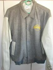 Los Angeles Lakers Mens Large  Wool & Leather Jacket//Mint