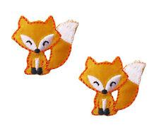 "2x (€0,59St) Applikationen Stickmotiv ""Fuchs"" Fox Bügelmotiv Kinder  [91573]"