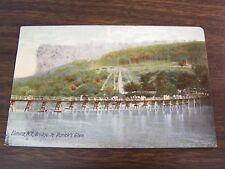 ELMIRA N.Y. BRIDGE TO RORICK'S GLEN (AMUSEMENT PARK) - POST CARD - USED - 1907