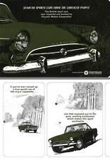 Sunbeam Alpine V & Sunbeam Tiger V8 1964 - Sunbeam Sports Cars from the Chrysler