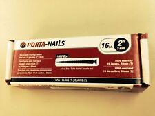 "Porta Nails Genuine Porta Nailer 2"" / 50mm  (Carton 1,000) T Nails"