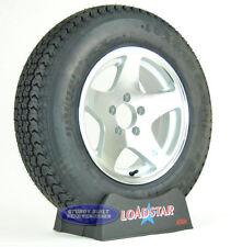 "(2)-Trailer Tires LoadStar K550 ST 205/75D15 Aluminum 5 Star 15"" Wheels 5 Lug"