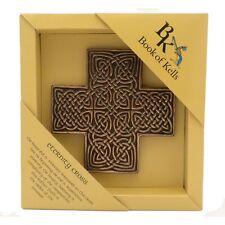 IRISH Bronze Book of Kells Eternity Cross Made in Ireland by  Wild Goose Studio