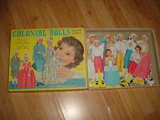 Vtg- 60s-70s-Paper Dolls-Cut Outs Clothes-1960 Colonial-Original