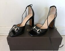 1ba89f5fe1b GUCCI BLACK LEATHER SANDALS  MULES  HEELS SZ 5.5-6