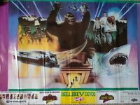 Vintage 1990 Universal Studios Florida Hollywood 36 x 24 Poster Jaws King Kong