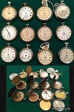 Lote de relojes de bolsillo trabajo para ser reparado para piezas o para colección, ocasiones
