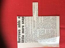 m2t ephemera 1967 football article harry burrows stoke city
