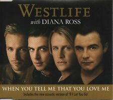 WESTLIFE with DIANA ROSS When you tell me that you love me 2 TRACK CD  NEW