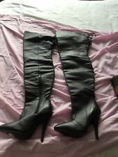 black thigh high boots size 4