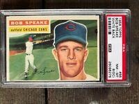 1956 Topps SETBREAK Bob Speake WHITE BACK #66 PSA 8 NM-MT OC Card