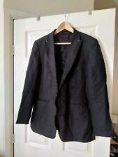 "Valentino 21 linen black blazer 38"" small"