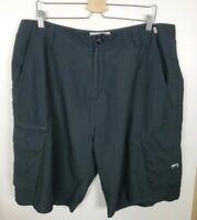 (#19) Split Men's Size 38 Black Cargo Shorts Skater