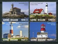 Guinea-Bissau Lighthouses Stamps 2020 MNH Montauk Portland Head Light 4v Set