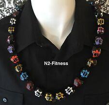 Hawaii Wedding Multi Color Turtle  Kukui Nut Lei Graduation Luau Party Necklace