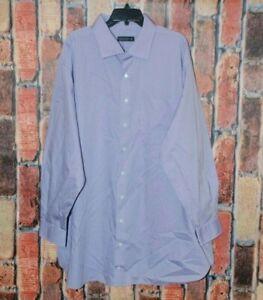 Rochester Men's Button Down Long Sleeve Purple Dress Shirt Size 20 36/37 Tall