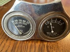 REX-A-CO OIL ROCHESTER TEMPERATURE DUAL GAUGES IN BRACKET MODEL A FORD RAT ROD