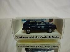 WIKING VW VOLKSWAGEN GOLF - MEXICO 2.000.000 - BLUE 1:87 - EXCELLENT IN BOX