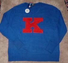 NEW NCAA Kansas Jayhawks Men Casual Dress Sweater L Large NEW NWT