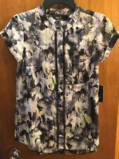 Simply Vera Wang Blouse Size XS Black Floral