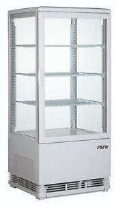 Kühlvitrine Aufsatzkühlvitrine Tisch Kühlvitrine Gastronomie 78 Liter Weiß