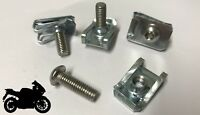 10x Panel Fasteners M6 C Clips Spire Clip & Stainless Bolts Motorbike Fairing