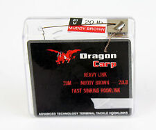 Dragon Leader SINKING Braid -20Mtrs Muddy Brown 20lb hooklink carp fishing XL