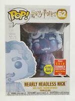 Funko Pop! Harry Potter - Nearly Headless Nick #62 - GITD 2018 Summer Convention