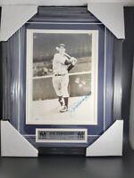 Joe DiMaggio Autographed FRAMED  Signed Picture 8x10 JSA LOA