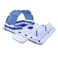 Large 6-Person Swimming Inflatable Comfortable Lounge Water Island Float Raft