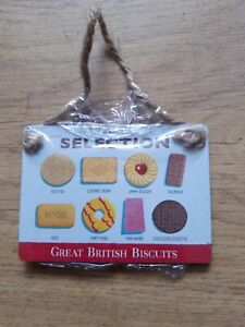 Great British biscuit classic collection retro small hanging plaque
