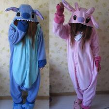 2020New Adult Blue Stitch Kigurumi Pajamas Animal  angel lilo Cosplay Costume@